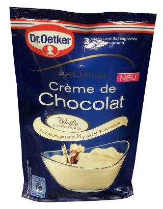 Dr. Oetker Premium Creme de Chocolat - Weisse / White  - Dessert - FRESH from Germany
