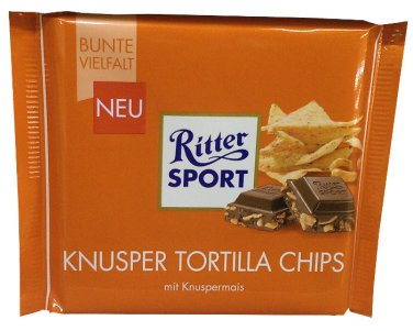 Ritter Sport - Knusper Tortilla Chips - 100 g - from Germany- FRESH from Germany