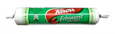 Knorr Erbswurst mit Räucherspeck   - Pea Soup with smoked bacon  - from Germany- FRESH from Germany