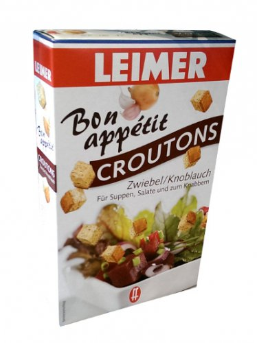 Leimer Bon Appetit Croutons � Zwiebel / Knoblauch - 100 g  - from Germany- FRESH from Germany