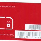 Red Pocket Mobile gsm sim card  pay as you go and unlimited