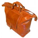 Floto Italian Leather Tack Duffle bag in Orange