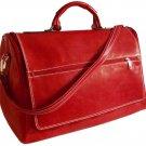 Floto Taormina Italian Leather Duffle in Tuscan Red