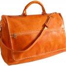 Floto Taormina Italian Leather Duffle in Orange