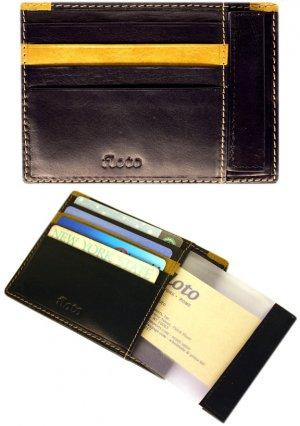 Floto Milano Card Case/Wallet in Black