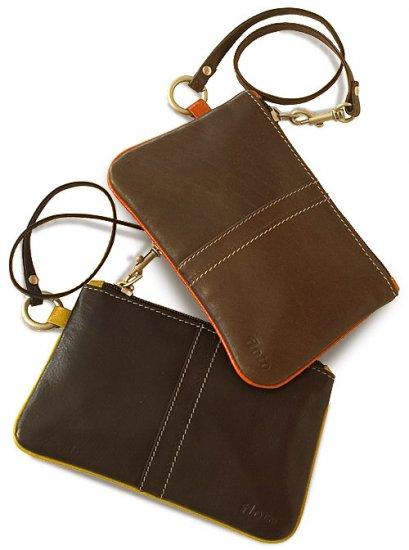 Floto Milano Wristlet/Wallet in Brown