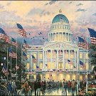 Flags over the Capitol-Size18x27 by Thomas Kinkade