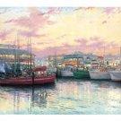 San Francisco Fishermans Warf-Size36x34 by Thomas Kinkade