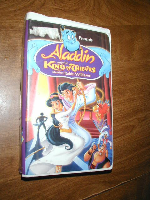 Aladdin And The King Of Thieves Vhs Robin Williams 1996