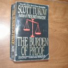 The Burden of Proof by Scott Turow (1991) (WCC2) Legal Thriller, Crime Fiction