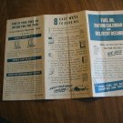 Vintage WWII Fuel Oil Ration Calendar and Delivery Record