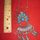 """Turquoise Medallion Necklace 35"""" (n 47)"""