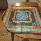 Ladies Scarf - Blue, Black, green, red & turquoise (WLB1)