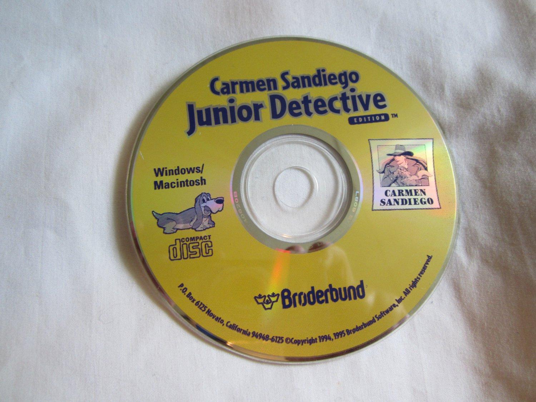 Carmen Sandiego Junior Detective Edition CD ROM