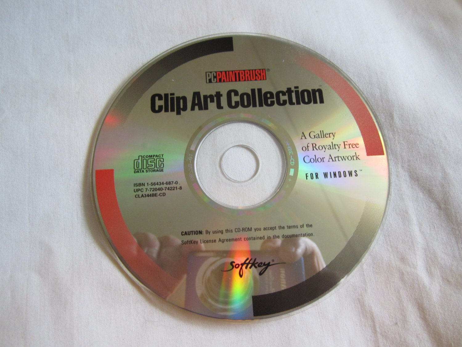 PC Paintbrush Clip Art Collection CD ROM  royalty free color artwork