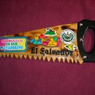 Wooden El Salvador Wooden Saw Three Key Holder (GB1)