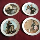 """Four Norman Rockwell Young Love Series  1982 6 1/2"""" Diameter Decorative Plates"""