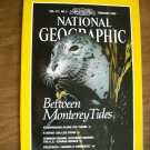 National Geographic Vol. 177 No. 2 February 1990 Between Monterey Tides, US Canada Border (G3)