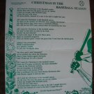 Lyrics to All I want For Christmas is The Baseball Season by Beth Cline
