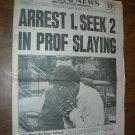 Daily News Vol 54 No 77 New York September 22, 1972 Prof Slaying Wolfgang Friedmann
