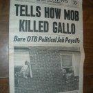 Daily News Vol 54 No 80 New York September 26, 1972 Tells How Mob Killed Gallo