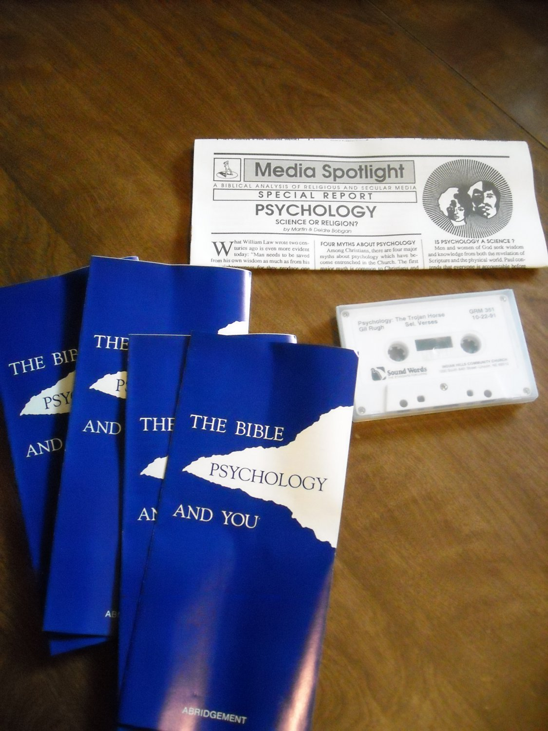 Audio Cassette Tape - Psychology: The Trojan Horse by Gil Rugh The Bible and You (WLB1)