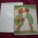 Good Housekeeping June 1926 Greeting Card - Jessie Willcox Smith - Boy and Girl Kissing