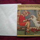 Good Housekeeping September, 1932 Greeting Card - Jessie Willcox Smith - girl learning to write