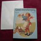 Good Housekeeping July 1932 Greeting Card - Jessie Willcox Smith - girl doing chores laundry