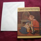 Good Housekeeping April 1932 Greeting Card - Jessie Willcox Smith - girl playing with doll