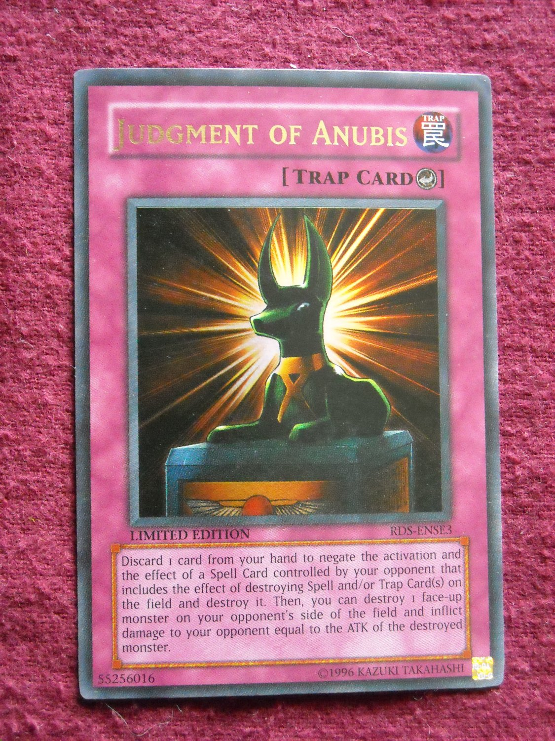 yu gi oh judgment of anubis rds ense3 counter trap card yugioh