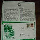 Season's Greetings Christmas 1979 Postal Commemorative Society First Day Cover sheet 1979