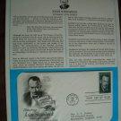 Honoring John Steinbeck 1979 Postal Commemorative Society First Day Cover Sheet American Novelist