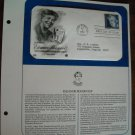 Honoring Eleanor Roosevelt 1984 Postal Commemorative Society First Day Cover