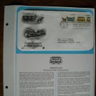 Early American Streetcars 1983 Postal Commemorative Society First Day Cover Sheet