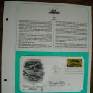 Fish Booklet Stamps - Catfish - 1986 Postal Commemorative Society First Day Cover Sheet