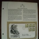 Hugo Lafayette Black U. S. Supreme Court 1986 Postal Commemorative Society First Day Cover Sheet