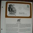 Jack London - Novelist Short Story Writer 1986 Postal Commemorative Society First Day Cover Sheet