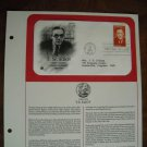 T. S. Eliot Poet Critic Nobel Laureate 1986 Postal Commemorative Society First Day Cover Sheet