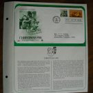 Christmas 1981 Season's Greetings 1981 Postal Commemorative Society First Day Cover Sheet