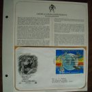 America's Space Achievements 1961 -  1981 Postal Commemorative First Day Cover Sheet