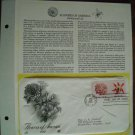 Flowers of America Dahlia and Lily 1981 Postal Commemorative First Day Cover Sheet
