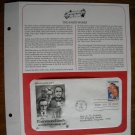 Honoring the Barrymore Family 1982 Postal Commemorative Society First Day Cover Sheet