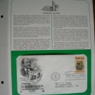 Honoring Horatio Alger Author 1982 Postal Commemorative Society First Day Cover Sheet