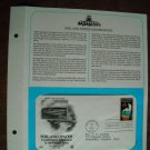 Soil and Water Conservation 1984 Postal Commemorative Society First Day Cover Sheet
