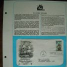 Quadricentennial Roanoke Voyages 1984 Postal Commemorative Society First Day Cover Sheet