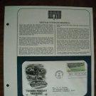 Vietnam Veterans Memorial 1984 Postal Commemorative Society First Day Cover Sheet