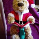Avon Cycling Santa Bear In Original Box Avon 1997