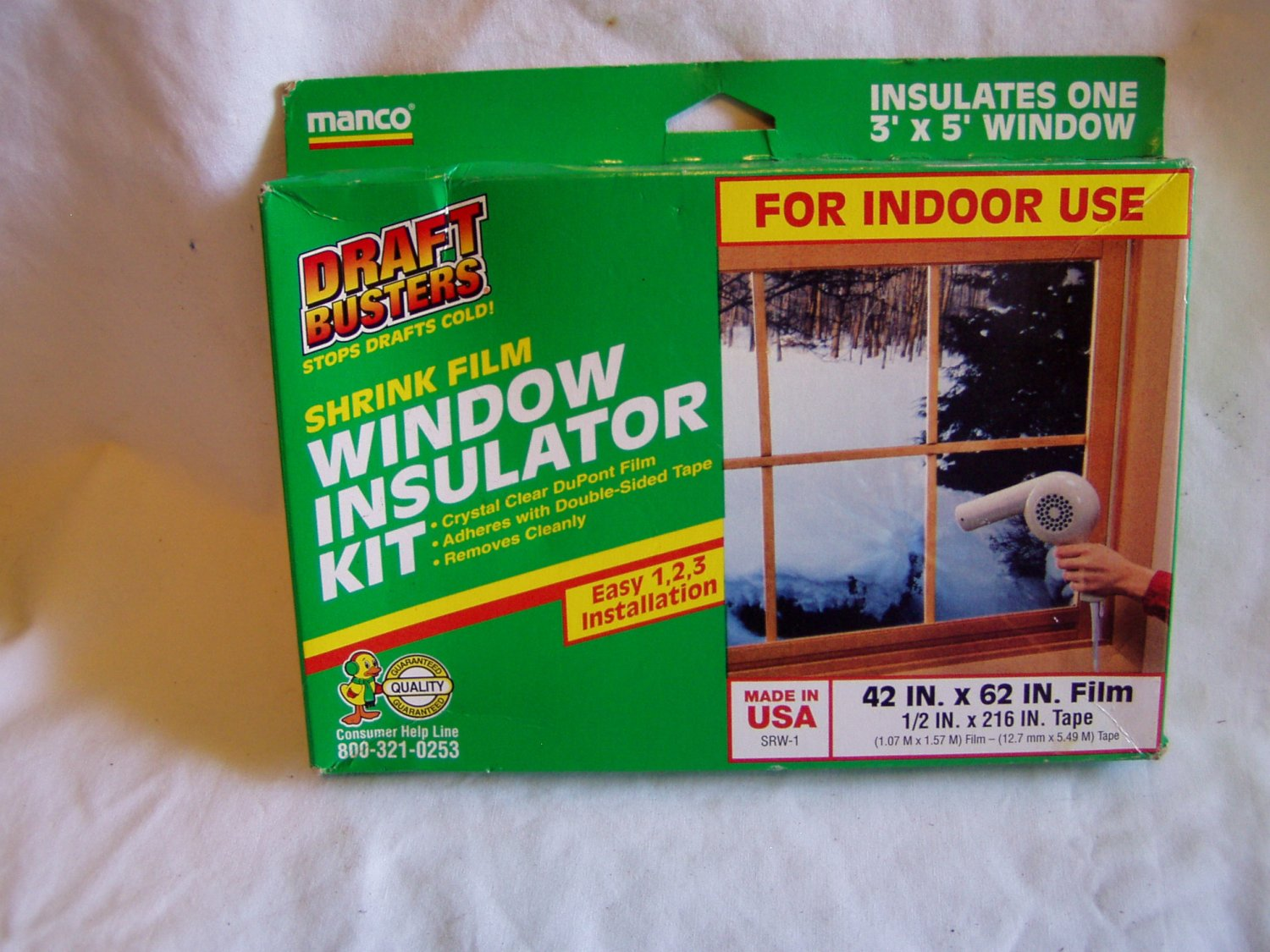 Manco shrink film window insulator kit 42 in x 62 in for Window insulation kit