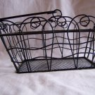 Green Metal Basket With Handle